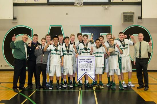 Jr Boys Fraser Valley Champions